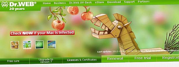 nagłówek witryny Dr. Web