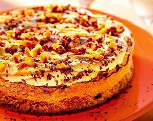 Tort bezowy migdałowo-czekoladowy