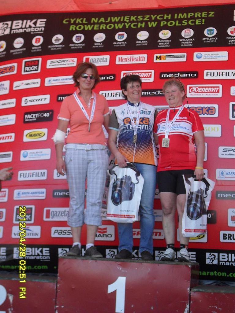 Iwona Jankowska - pierwsza rowerzystka drużyny Polski na Rowery, której udało się wywalczyć podium.