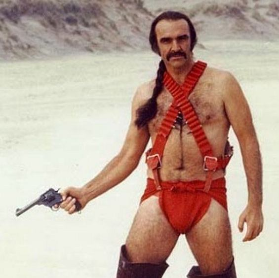 Sean Connery w filmie Zardoz