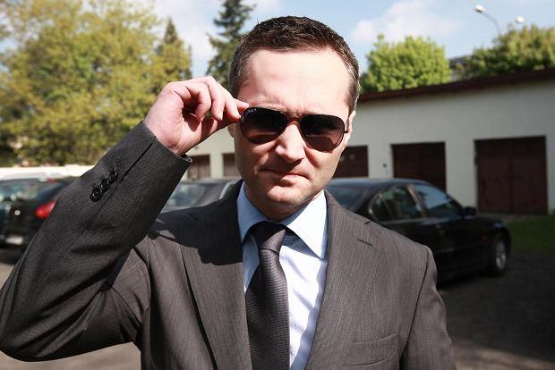 Jarosław Wałęsa podczas rozprawy w sierpeckim sądzie