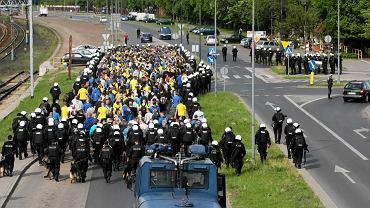 Ruch zostanie zatrzymany na czas wyjścia kibiców ze stadionu
