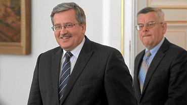 Prezydent Bronisław Komorowski i jego doradca - Tomasz Nałęcz