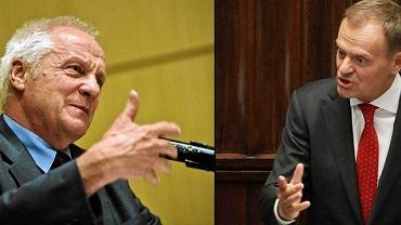 Stefan Niesiołowski i Donald Tusk