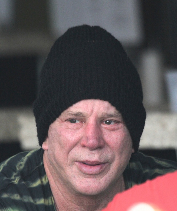 ??NATIONAL PHOTO GROUP   Mickey Rourke is seen out to lunch with a friend in Los Angeles.  Job: 051612J27  EXCLUSIVE May 16th 2012 Los Angeles, CA  NPG.com