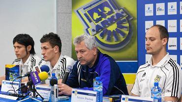 Radosław Pruchnik (z prawej) i trener Petr Nemec