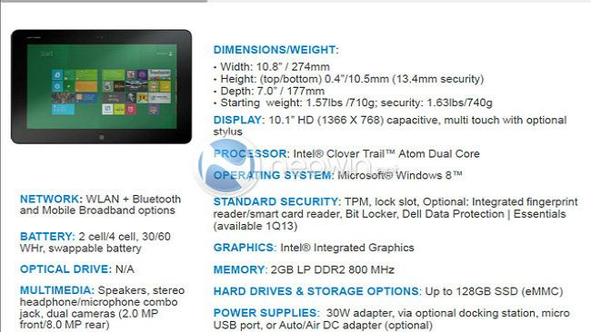 Dell też szykuje tablet na premierę Windowsa 8 - poznajcie Dell Latitude 10