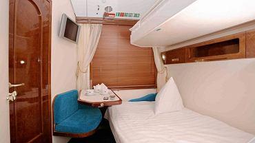 Wnętrze wagonu sypialnego