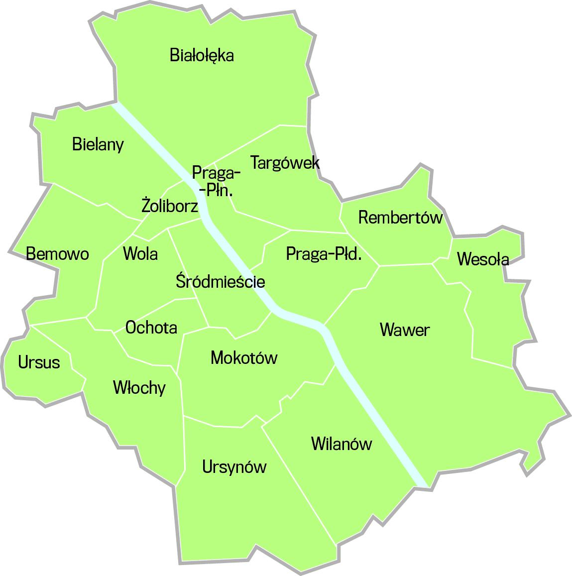 Warszawa Kto Trzyma Wladze W Dzielnicach Mapa
