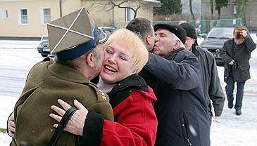 Wizyta kombatantów Armii Czerwonej w Olsztynie z okazji 60. rocznicy zdobycia Olsztyna