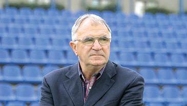 Antoni Piechniczek na stadionie Ruchu Chorzów