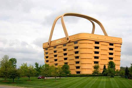 Siedziba producenta koszyków Longaberder Company w Stanach Zjednoczonych (fot. za www.oddee.com)