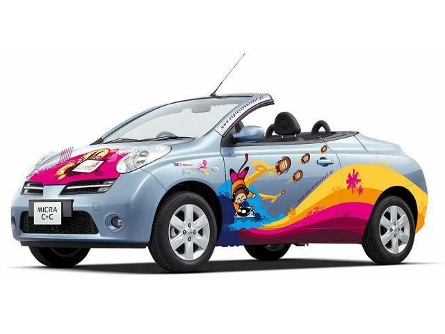 Nissan Micra C+C z przykładowym malowaniem