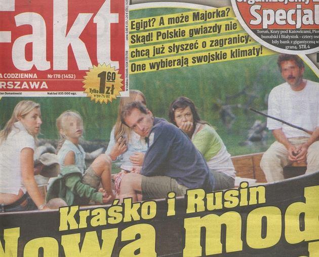 Kinga Rusin i Piotr Kraśko/31.07.2008/Fakt