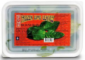 Mrożone liście limonki
