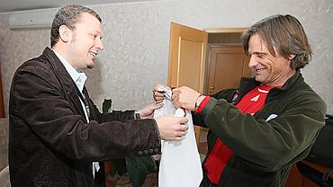 Jakub Wiewiórski i Viggo Mortensen