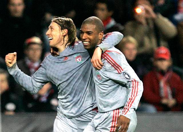 Lucas i Ryan Babel - oczywiście z Liverpoolu