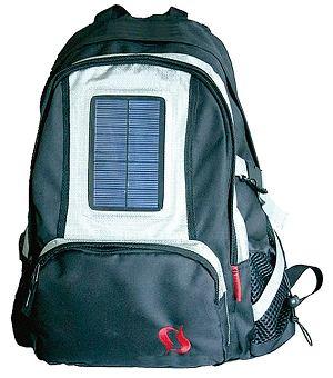 Plecak z panelem słonecznym