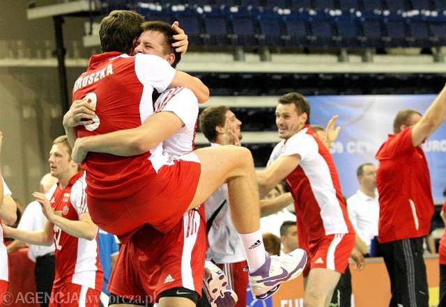 Radość po meczu z Bułgarią