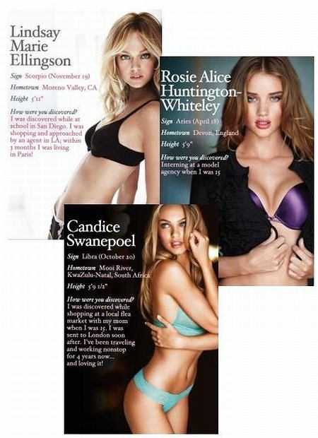 Lindsay Ellingson, Candice Swanepoel, Rosie Huntington-Whiteley