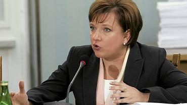 Beata Kempa przesłuchiwana przez sejmową komisję hazardową.