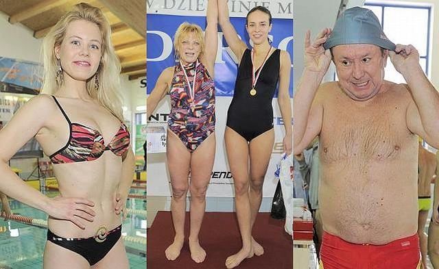 Jak widać, lansować można się wszędzie. Na basenie uskuteczniali to mało znani aktorzy, którzy pojawili się na zawodach pływackich w swoich brzydkich strojach kąpielowych (zasłaniających za mało!), starych klapkach i czepkach, które sprawiały, że wyglądali jeszcze komiczniej. I czym tu się chwalić?
