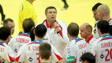Bogdan Wenta z zawodnikami