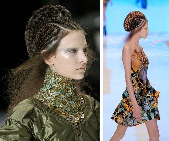 Kosmiczne fryzury jak u McQueena