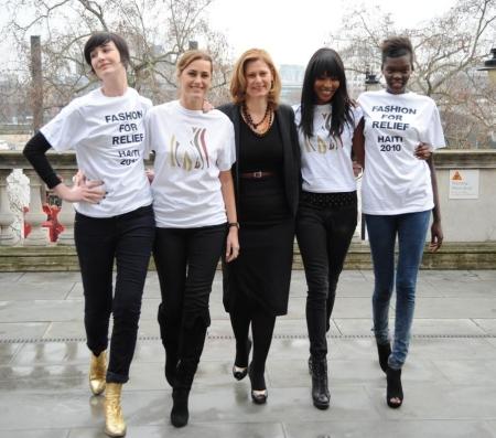 Erin O'Connor, Yasmin Le Bon, Sarah Brown, Naomi Campbell, Sheila Atim -