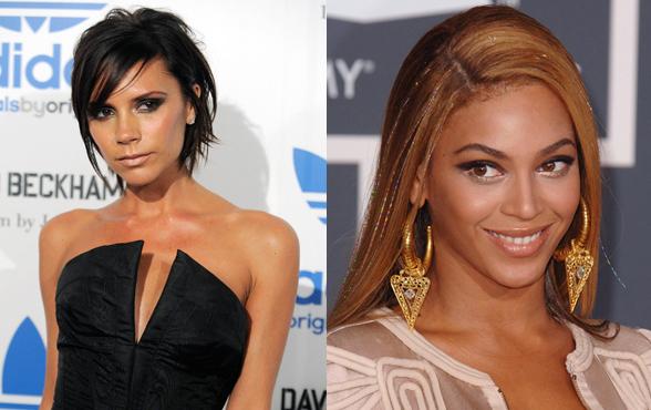 Victoria Beckham fot. AP Photo; Beyonce fot. East News