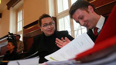 Alicja Tysiąc ze swoim adwokatem Marcinem Górskim