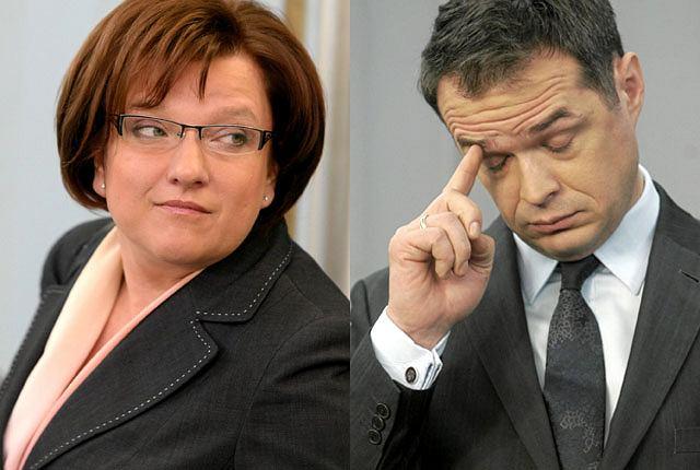 Beata Kempa i Sławomir Nowak