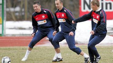 Reprezentanci Polski na treningu