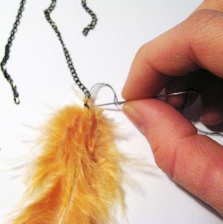 DIY - indiański naszyjnik z piór