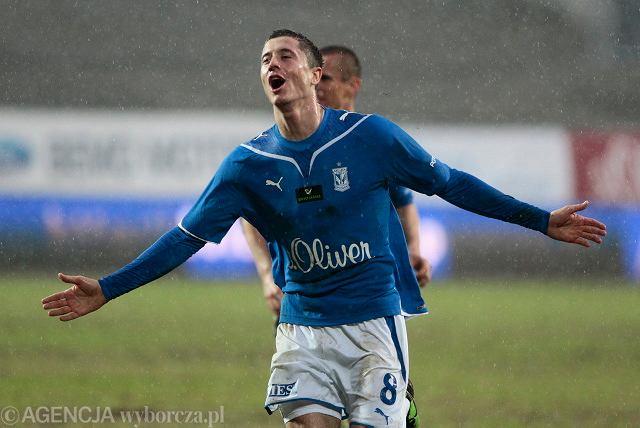 21. kolejka. Lech - Jagiellonia 2:0. Robert Lewandowski