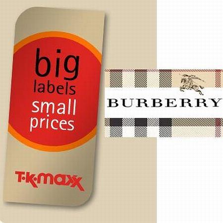 Logo Tk Maxx i Burberry