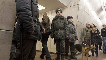 Patrol w moskiewskim metrze