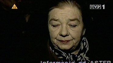 """Fragment programu """"Solidarni 2010"""". Na zdjęcie aktorka z serialu """"Plebania"""" Katarzyna Łaniewska"""