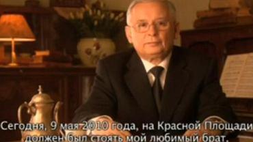 """Jarosław Kaczyński w wideo-przesłaniu """"Do przyjaciół Rosjan"""""""