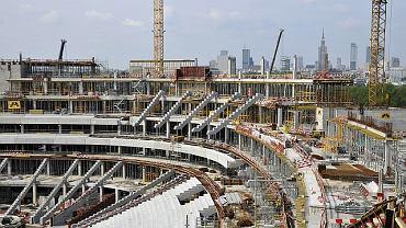 Zdjęcia z budowy Stadionu Narodowego - 10 maja 2010 r.