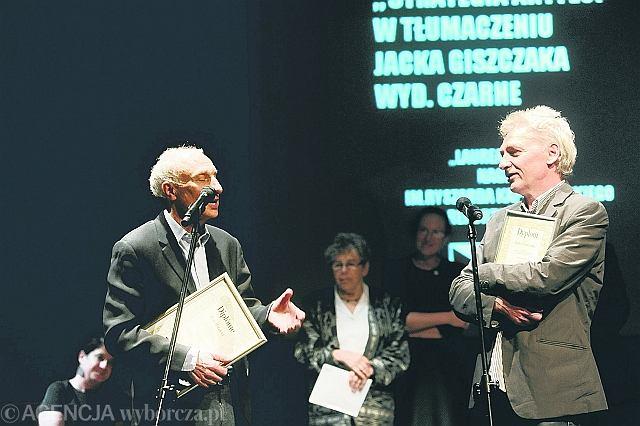Pisarz Jean Hatzfeld podczas gali wręczenia nagrody literackiej im. Ryszarda Kapuścińskiego