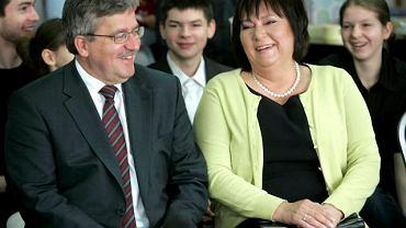 Kandydatowi towarzyszyła żona Anna Komorowska