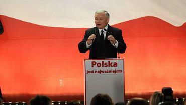 Przemówienie Jarosława Kaczyńskiego po ogłoszeniu sondażowych wyników wyborów prezydenckich