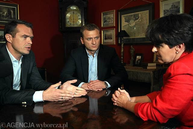 Sławomir Nowak i Joanna Kluzik-Rostkowska rozmawiają o debatach wyborczych