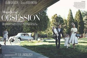 W najnowszym numerze amerykańskiego Vogue'a Natalia Vodianova  i Ewan McGregor wcielają się małżeństwo z lat 50. przeżywające dramat.