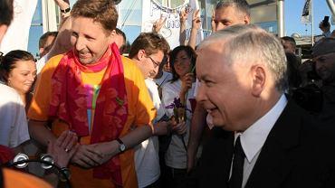 Marek Migalski i Jarosław Kaczyński w trakcie kampanii prezydenckiej