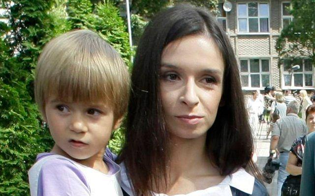 Marta Kaczyńska z Martynką.