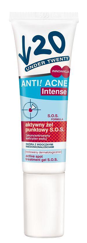 Żel Under Twenty Anti! Acne Intense S.O.S, 13,49 zł