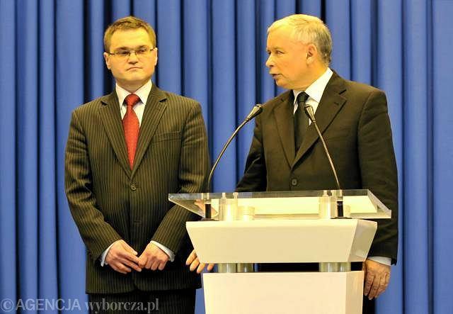 Mec. Rafał Rogalski i Jarosław Kaczyński