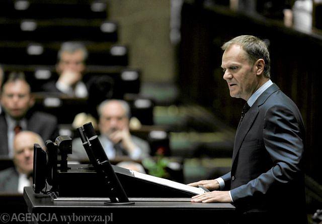 Donald Tusk przemawia dziś w Sejmie o stanie finansowym państwa